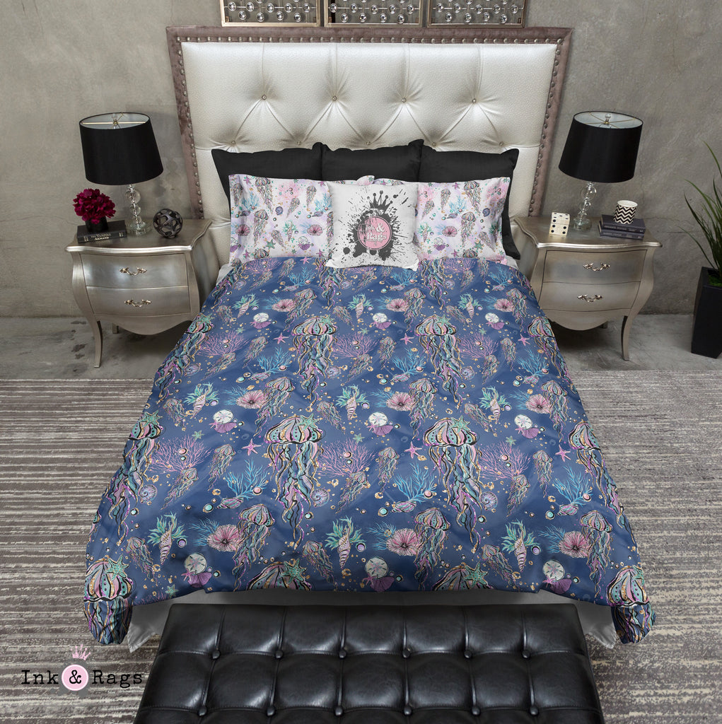 Glitz and Glam Jellyfish Sea Shell Bedding Collection