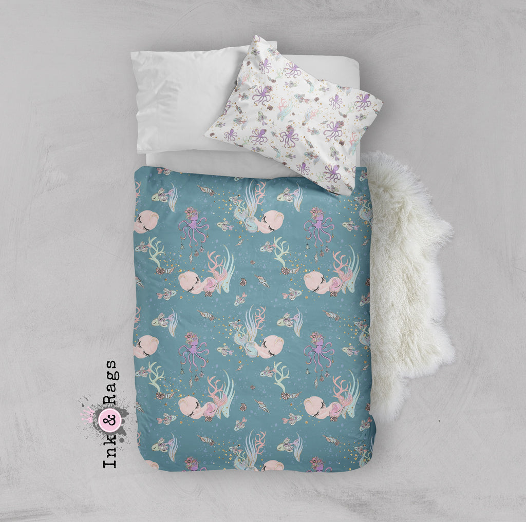 Baby Mermaid Dreams Crib and Toddler Bedding