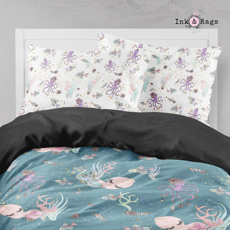 Baby Mermaid Dreams Crib and Toddler Size Comforter Sets