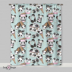 Panda Girl Fashion Curtains
