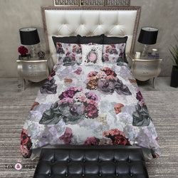 Vintage Pen and Watercolor Skull Bedding