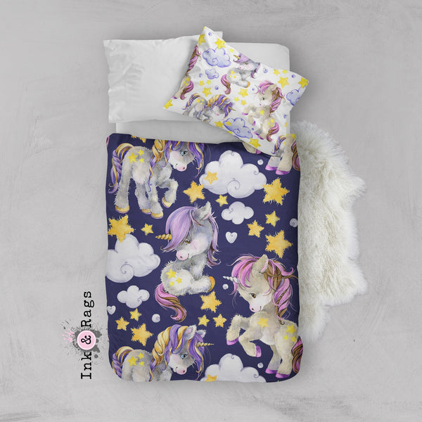 Starlight Unicorn Babies Crib and Toddler Size Comforter Sets