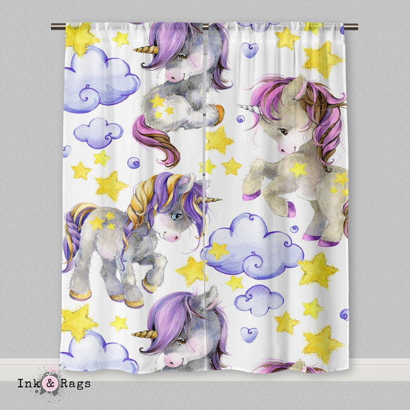 Starlight Unicorn Babies Light Curtains or Sheers