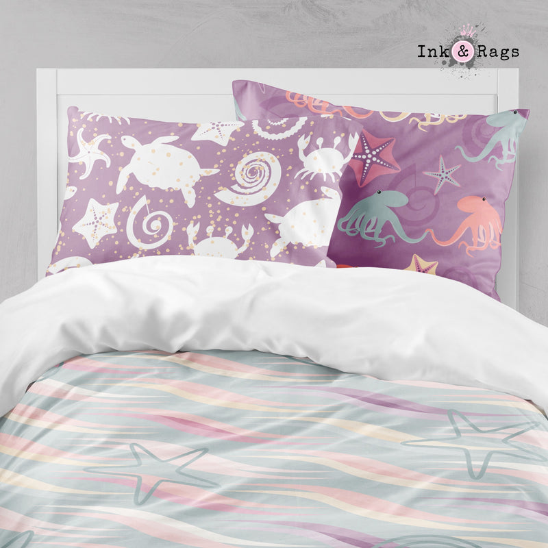 Pastel Nautical Under the Sea Big Kids Bedding