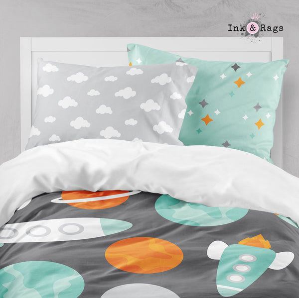 Space Kid Astronaut Planet Rocket Big Kids Bedding