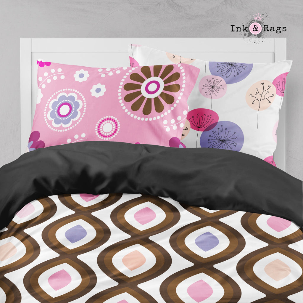 Retro Cupcake Flower Big Kids Bedding