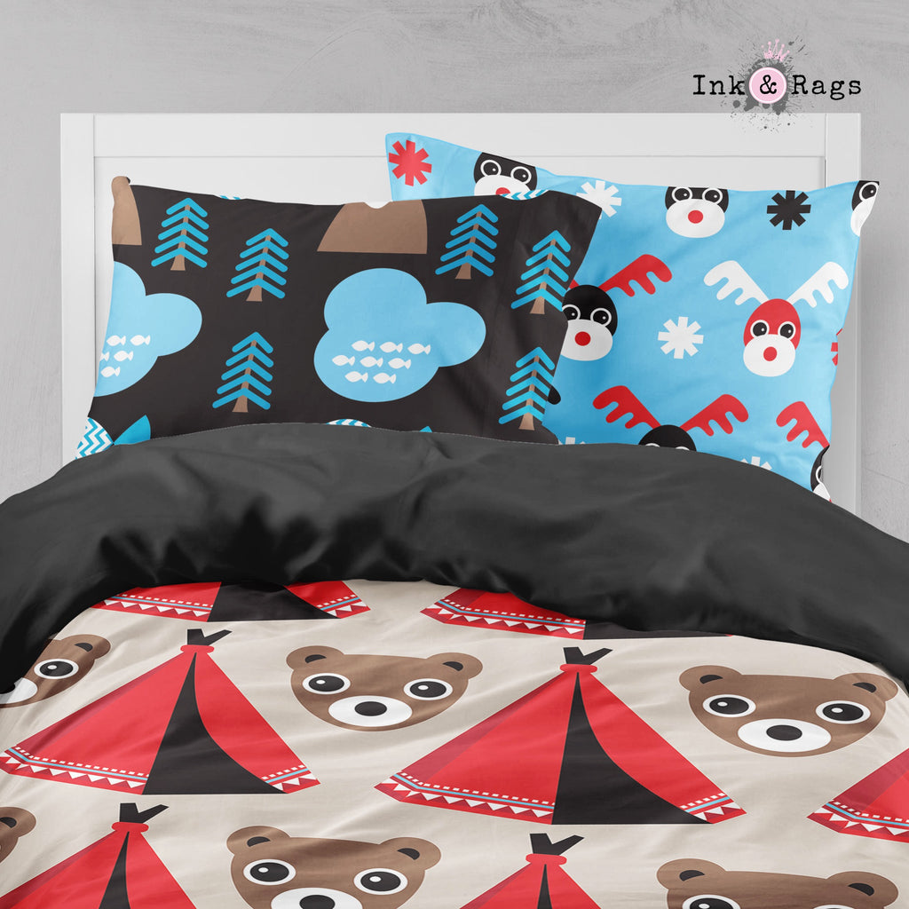 Summer Camp Bear Big Kids Bedding