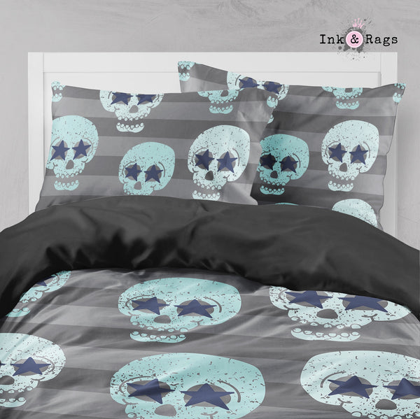 Stars and Stripes Skull Big Kids Bedding