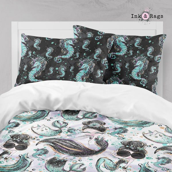 Breakfast At Tiffany Mermaid Mermicorn Fashion Big Kids Bedding