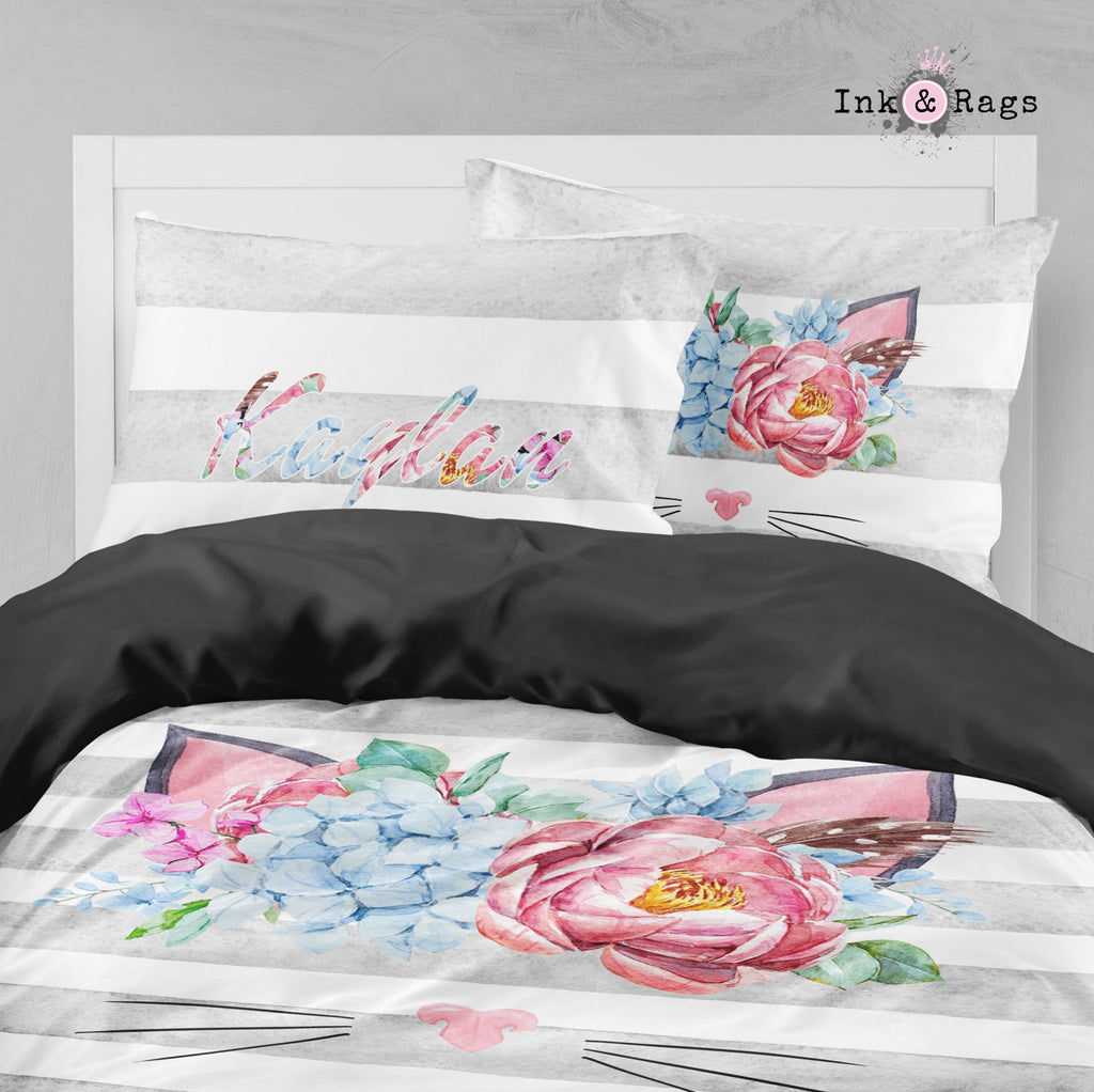 Whiskers and Roses Big Kids Bedding