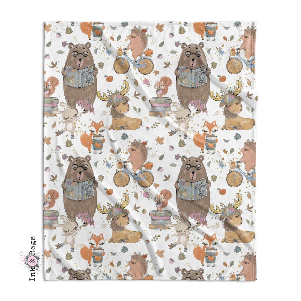 Fall Woodland Tales Pumpkin Spice Crib and Toddler Bedding