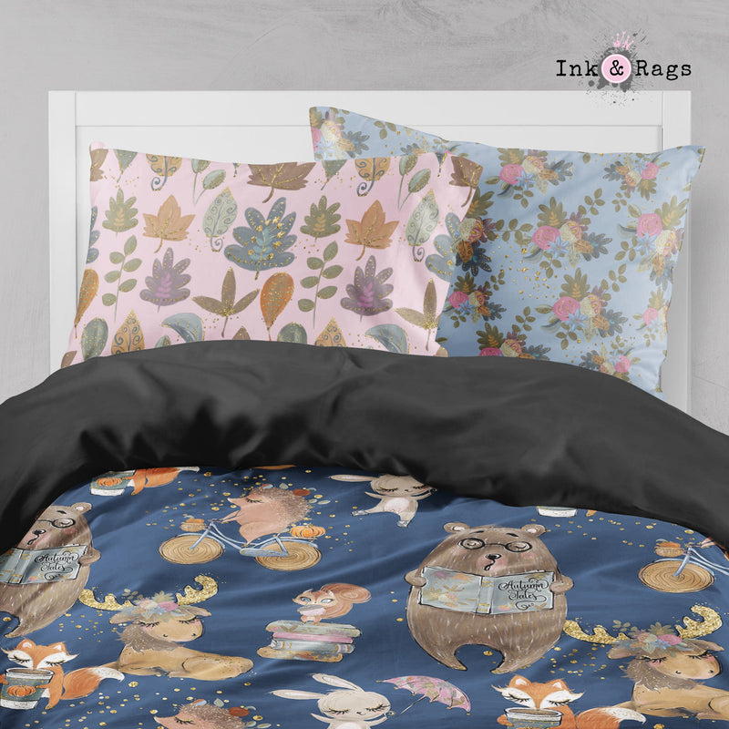Fall Woodland Tales Pumpkin Spice Crib and Toddler Size Comforter Sets