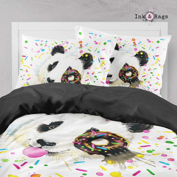 Panda Sprinkles Donut Big Kids Bedding