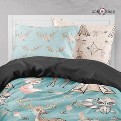 Boho Friends Arrow and Teepee Big Kids Bedding
