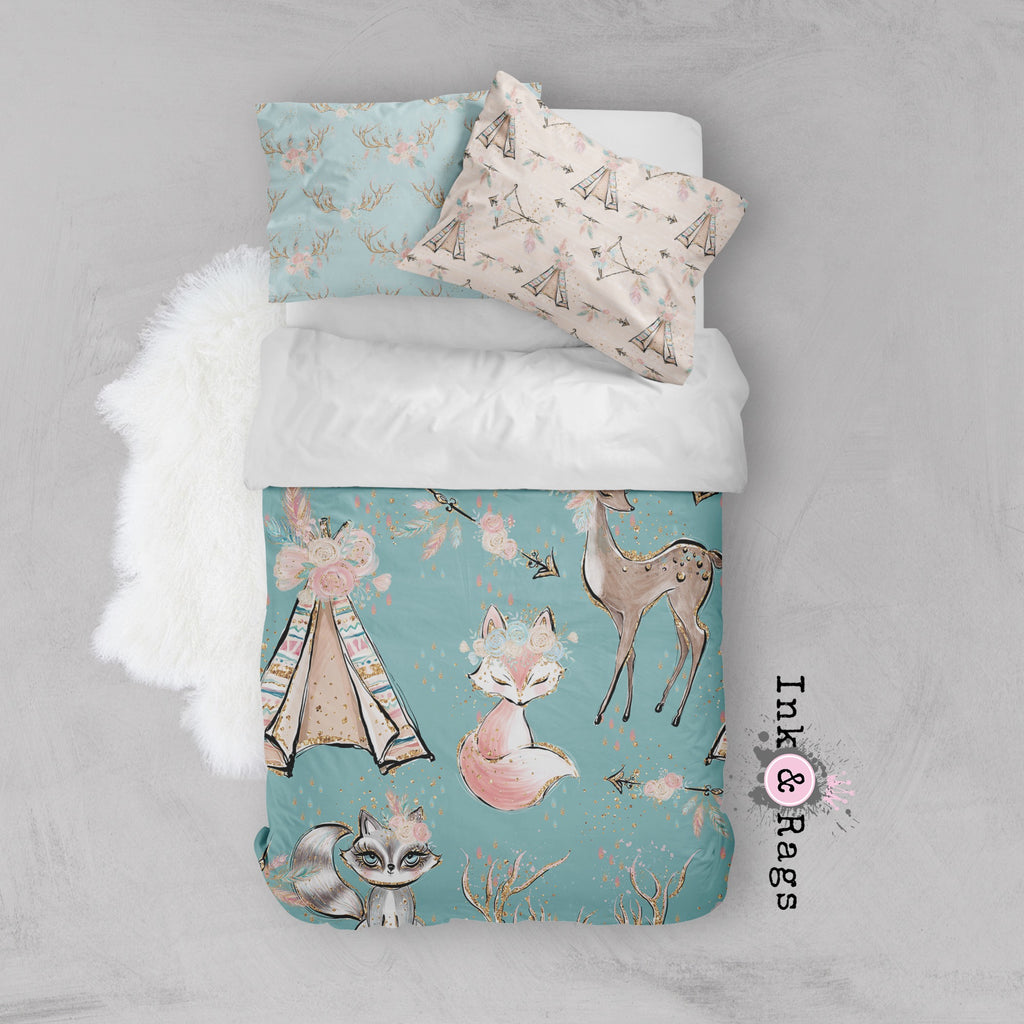 Boho Friends Arrow and Teepee Crib and Toddler Bedding Collection