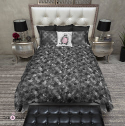 Black Mermaid Dreams Bedding