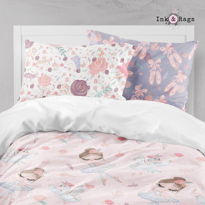 Ballerina Ballet Friends Crib and Toddler Size Comforter Sets