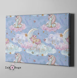 Baby Unicorn Dreams Gallery Wrapped Canvas
