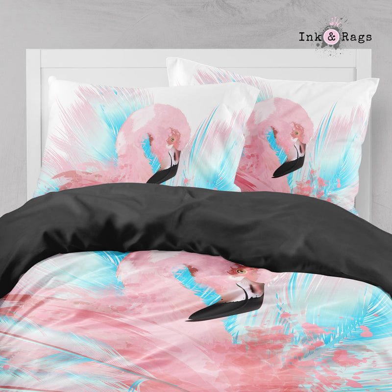 Watercolor Flamingo Big Kids Bedding