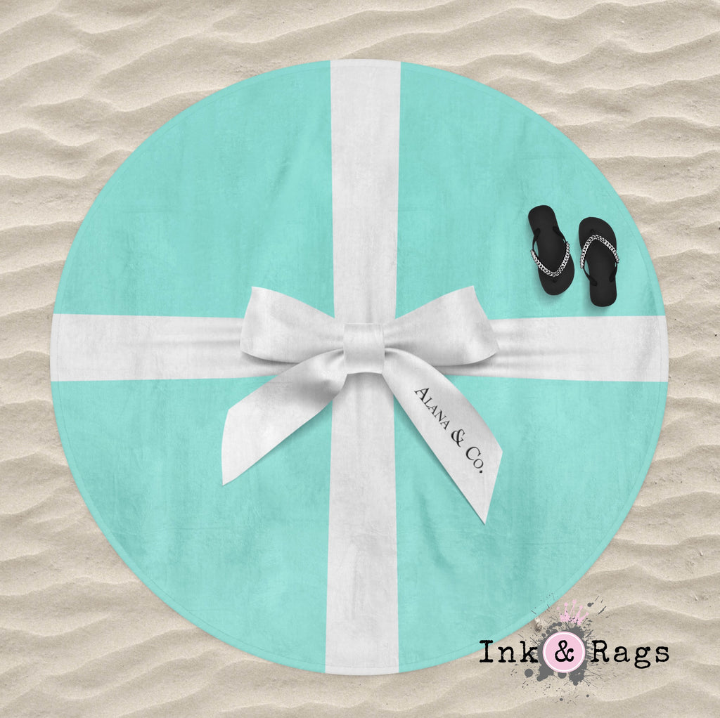 Name & Co Personalized Fashion Round Beach Towel