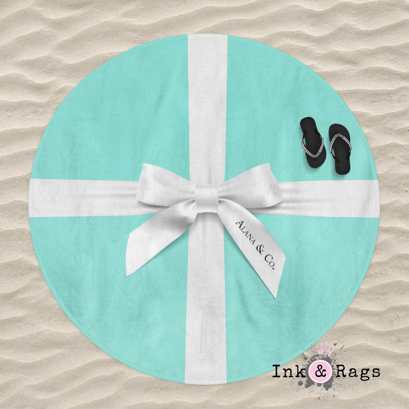 Name & Co Personalized Round Beach Towel