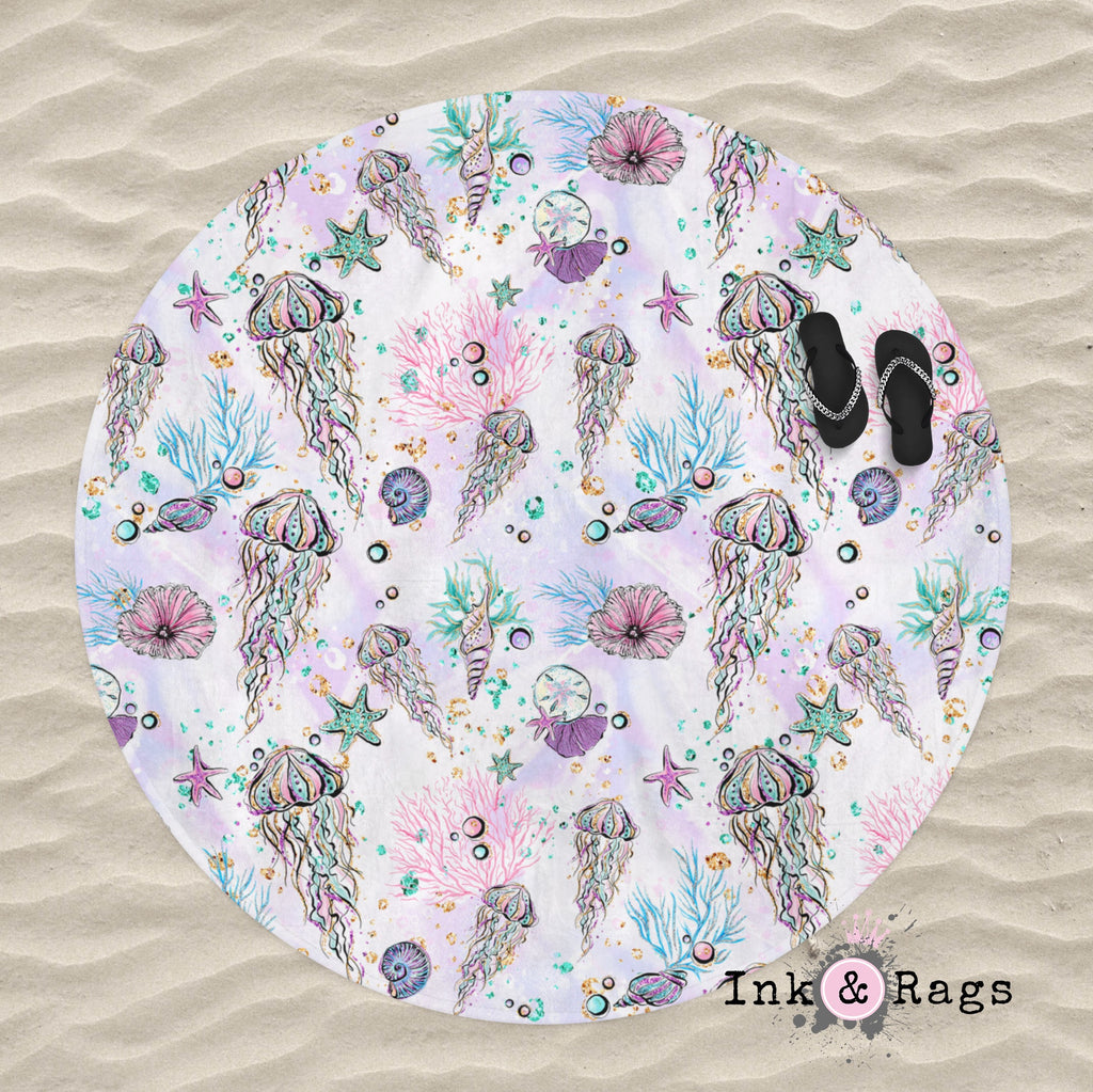 Cute little Jellyfish Round Beach Towel