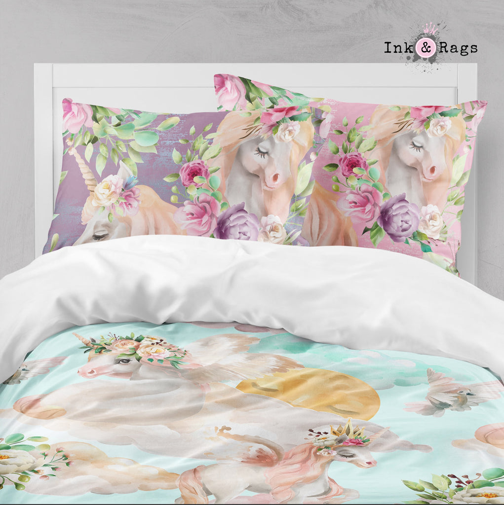 Over the Moon Unicorn Pegasus Dreams Big Kids Bedding