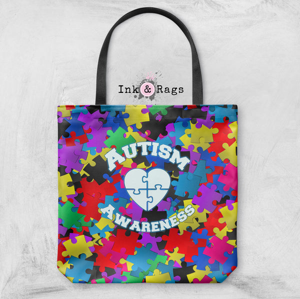 Bright Puzzle Piece Autism Awareness Bag