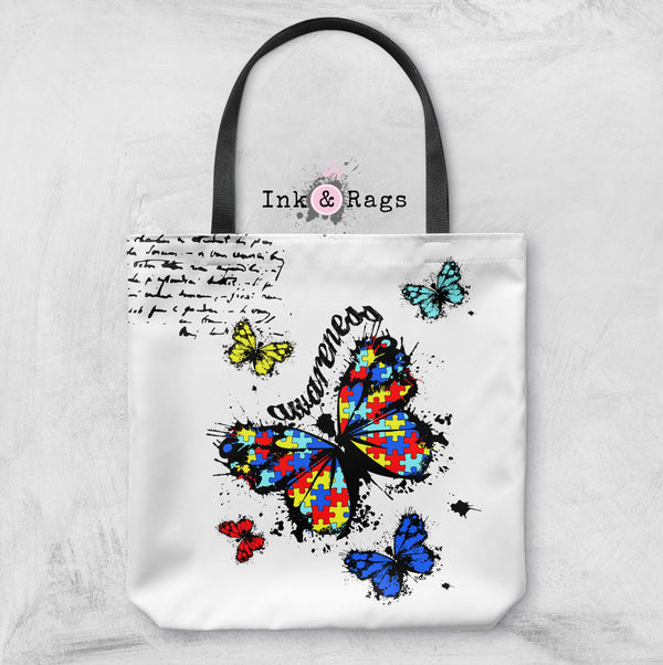 Butterfly Puzzle Piece Autism Awareness Bag