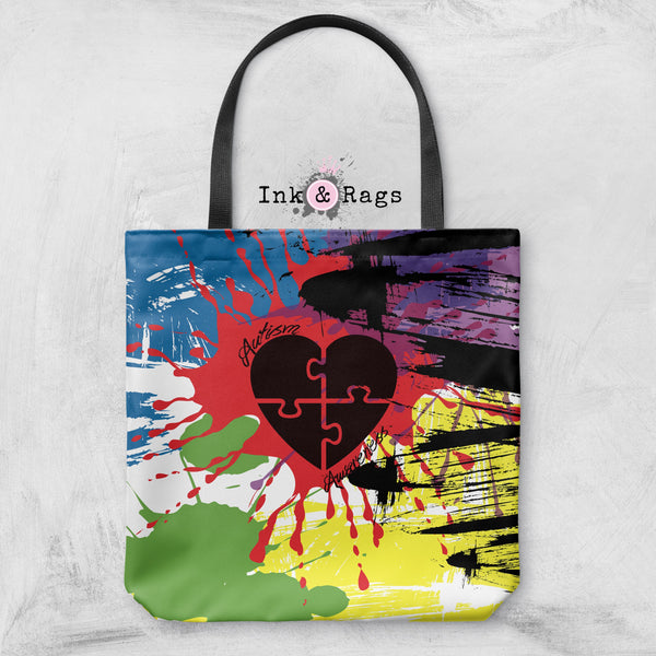Paint Splatter Autism Awareness Casual Bag