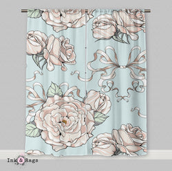 Country Chic Rose Curtains