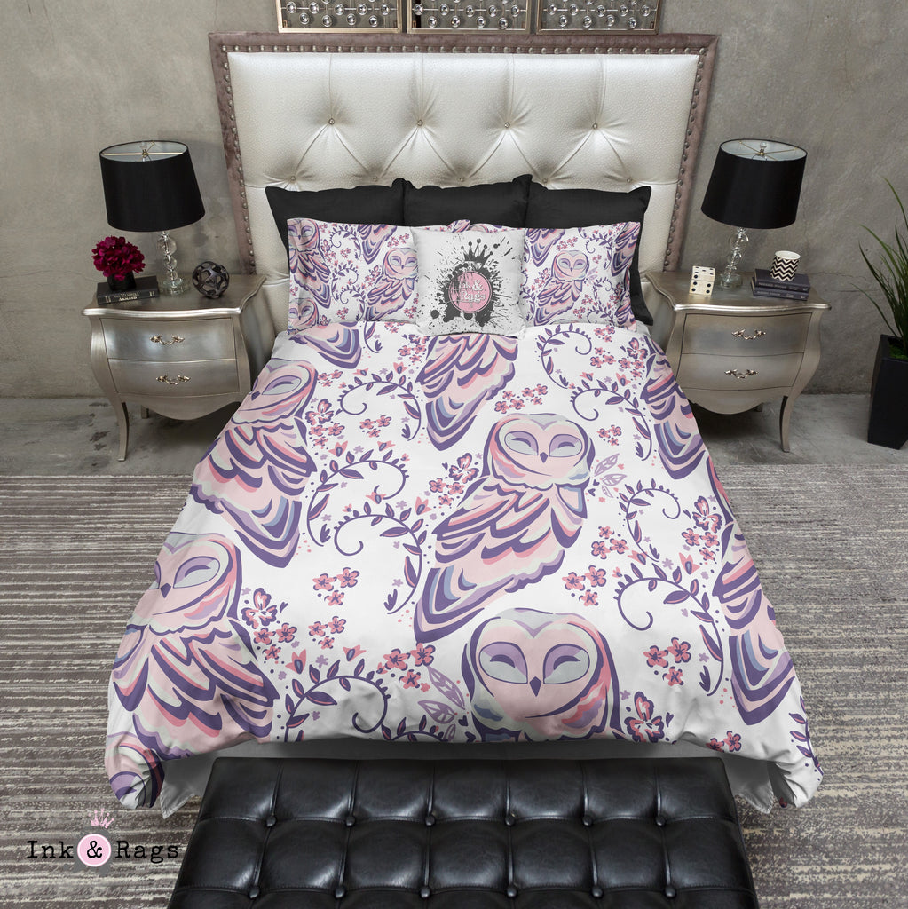 Purple and Pink Sweet Owl Bedding Collection