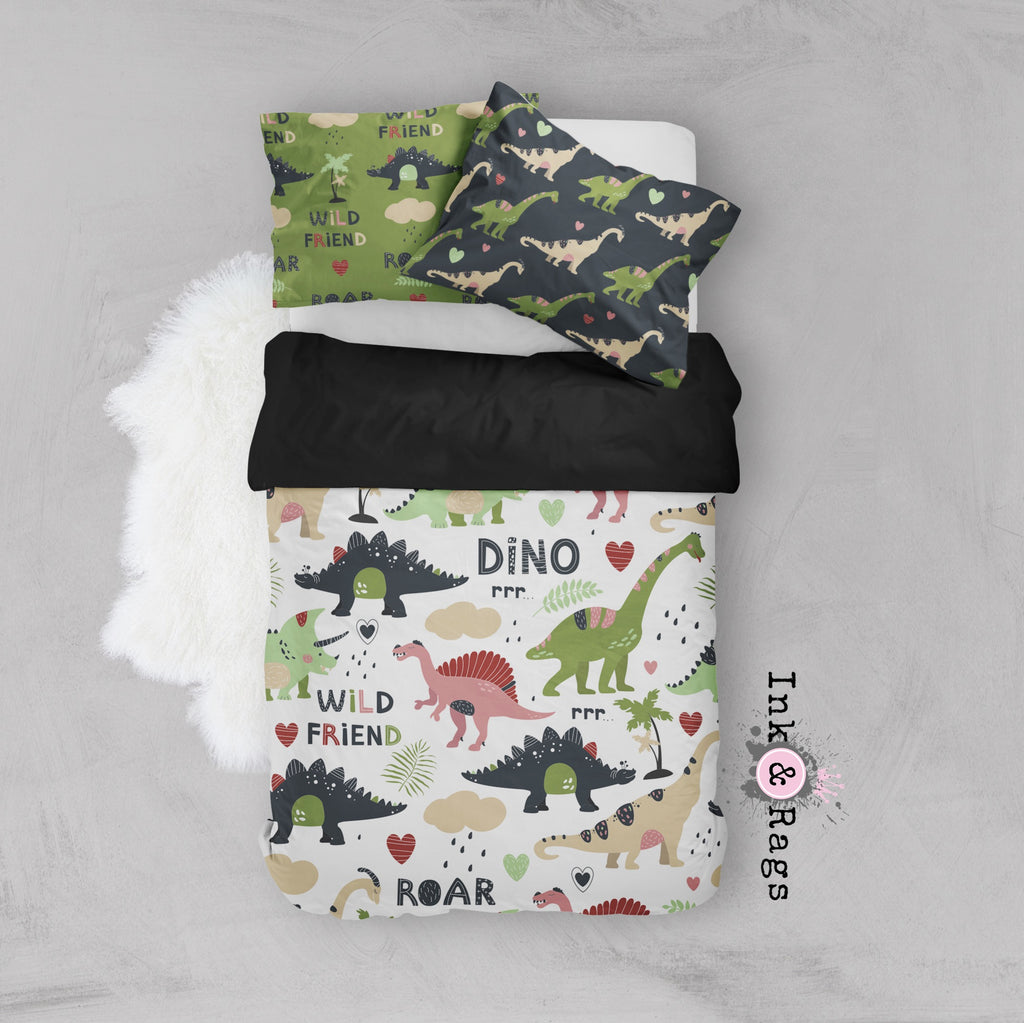 Wild Friends Dinosaur Crib and Toddler Bedding
