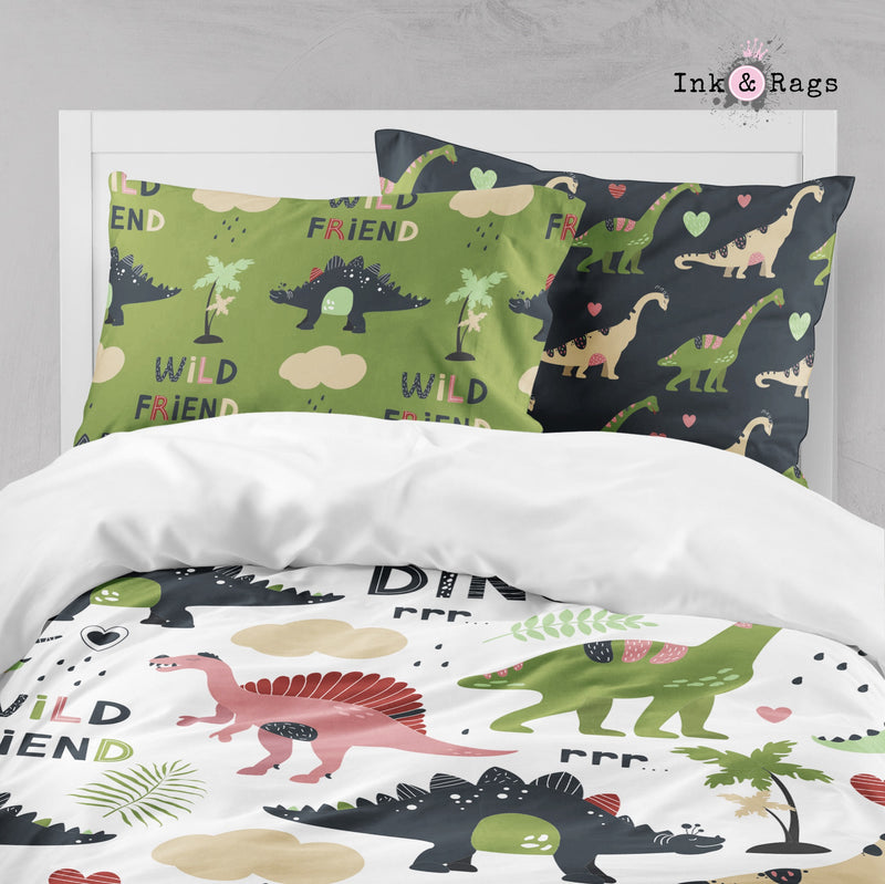 Wild Friends Dinosaur Big Kids Bedding