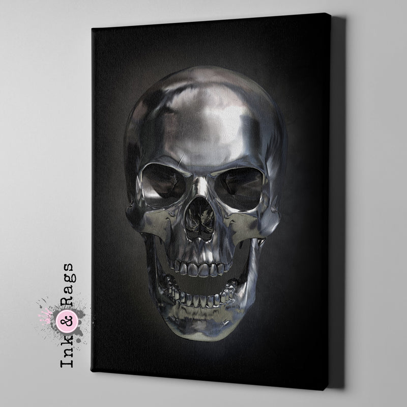 Metal Head Skull Gallery Wrapped Canvas
