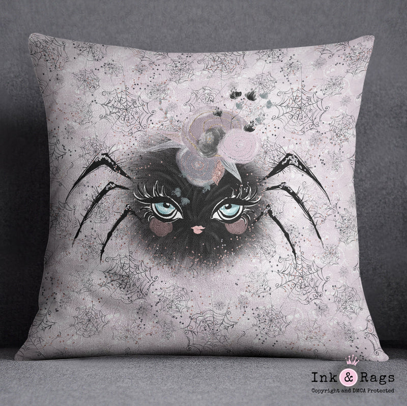 Little Bat and Spider Friends Spider Decorative Throw Pillow Cover