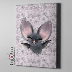 Little Bat and Spider Friends Bat Gallery Wrapped Canvas
