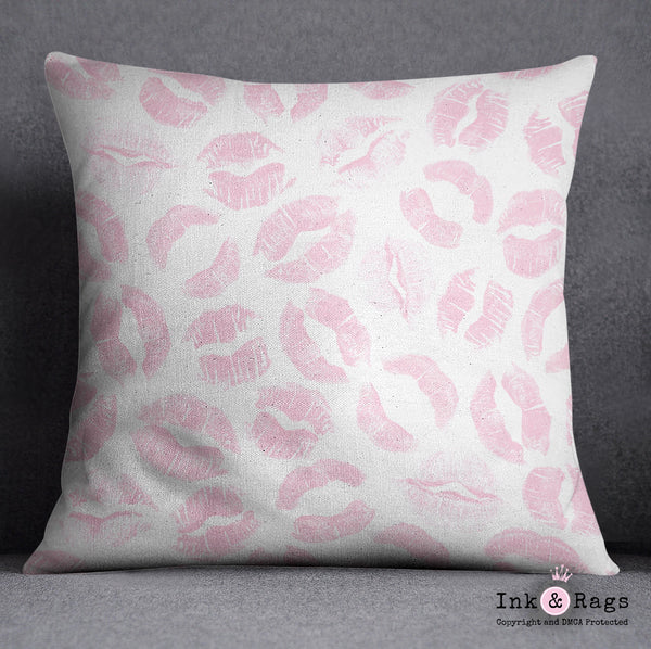 Pink Kiss Lip Print Crib and Toddler Size Comforter Sets