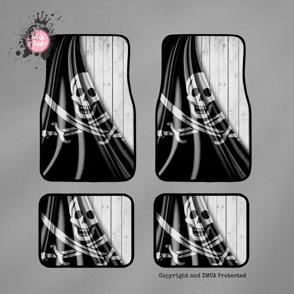Jolly Roger Skull Car Mats