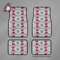 Rockabilly 8-Ball Dice and Stars Cat Mats