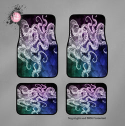 Midnight Octopus Car Mats