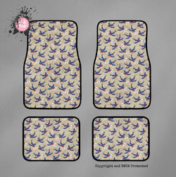 Rockabilly Love Letter and Swallows Car Mats