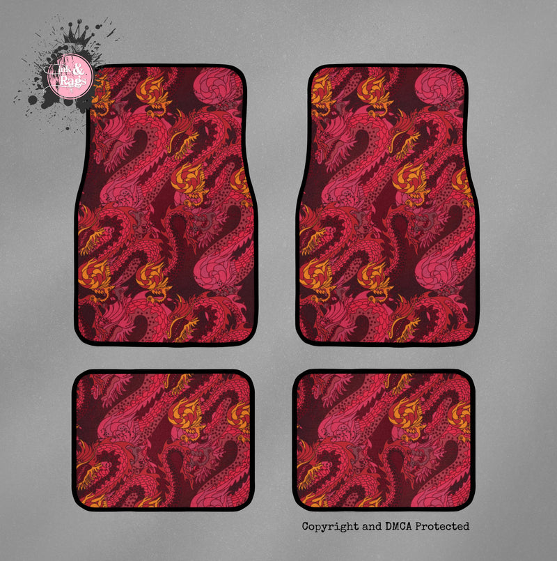 Red Dragon Car Mats