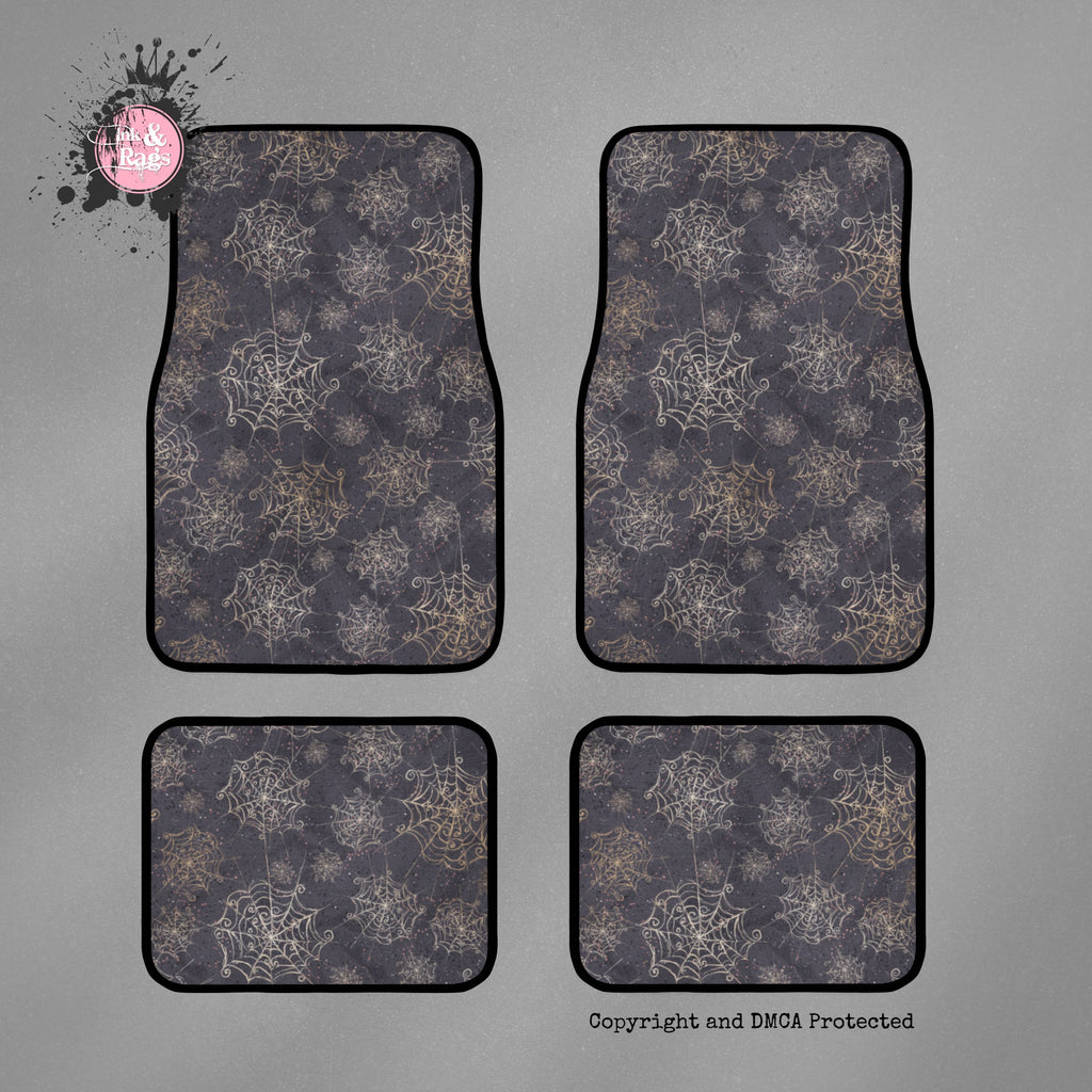 Curly Spider Web Car Mats