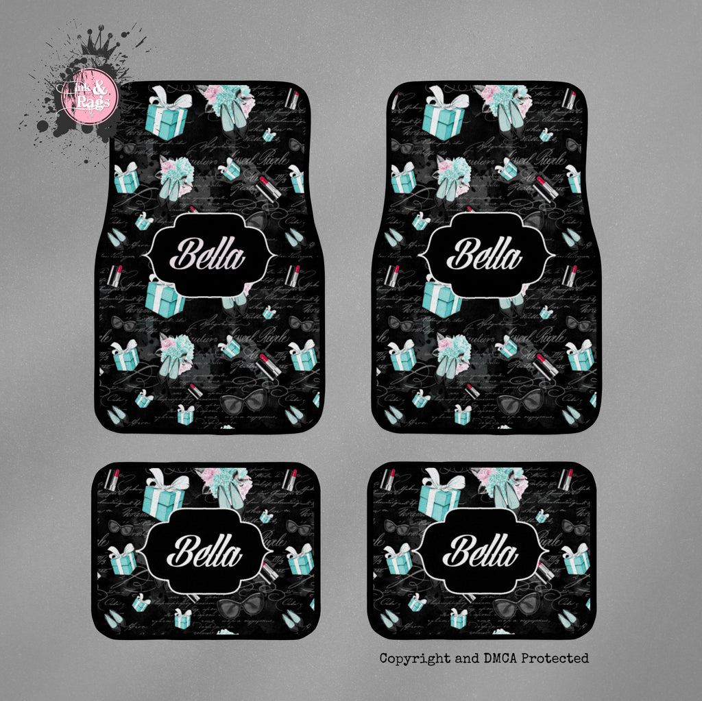 Little Blue Box Fashion Personalized Car Mats