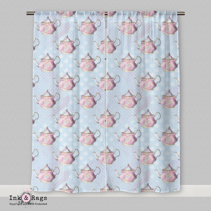 Mad Tea Party Alice in Wonderland Inspired Fashion Curtains