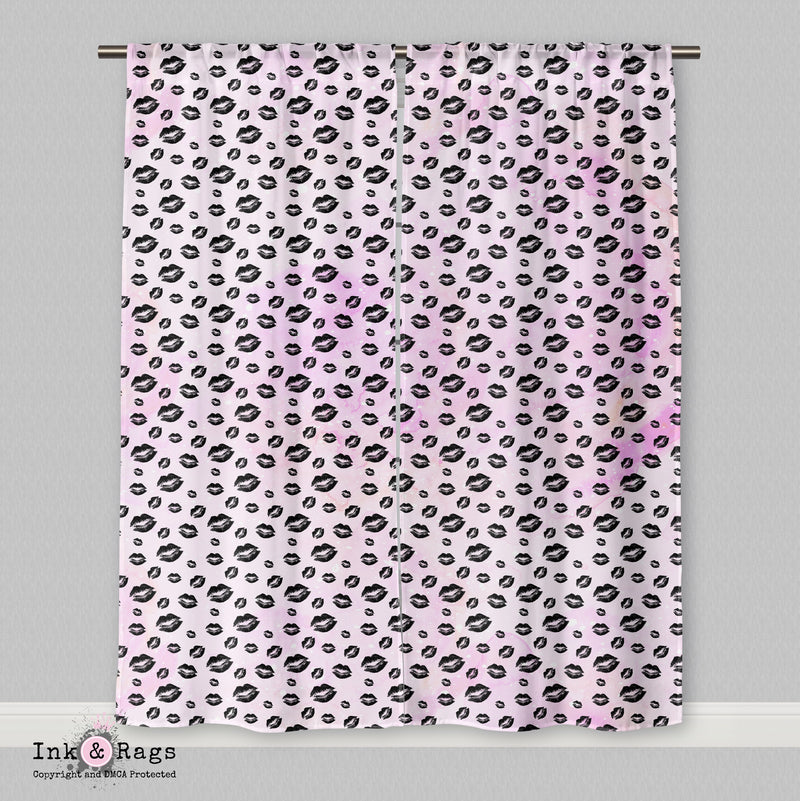 Pug Love A Girls Best Friend Fashion Curtains or Sheers