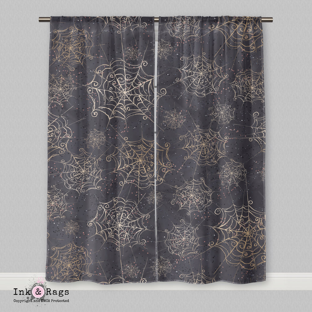 Curly Spider Web Curtains