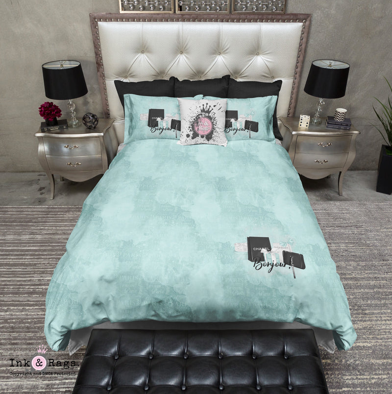 Paris Blue Shopping Spree Fashion Bedding