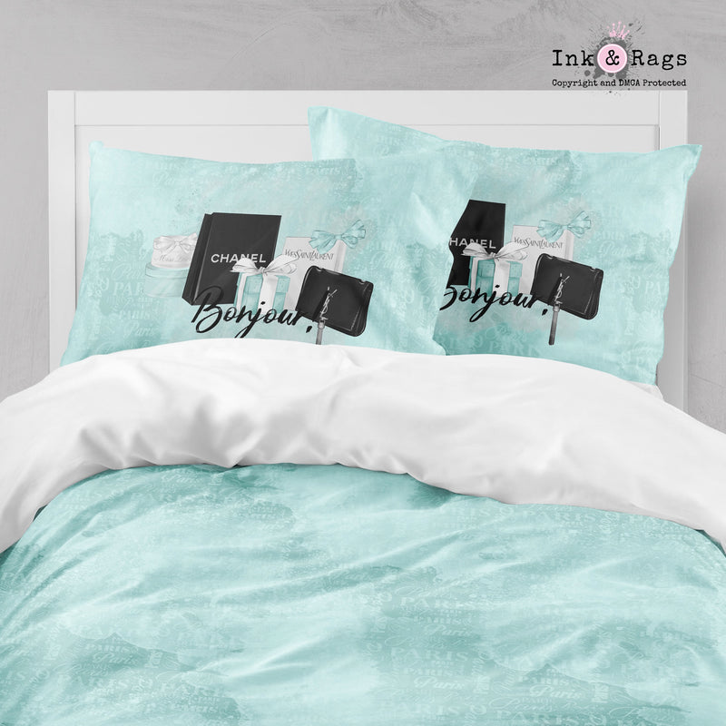 Paris Blue Shopping Spree Fashion Big Kids Bedding